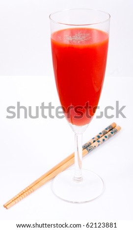 tomato juice and sticks