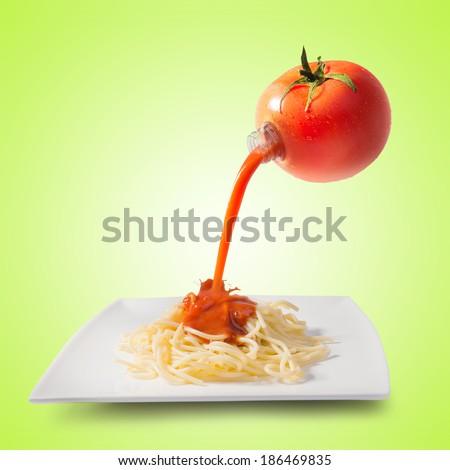 Tomato juice concept - stock photo