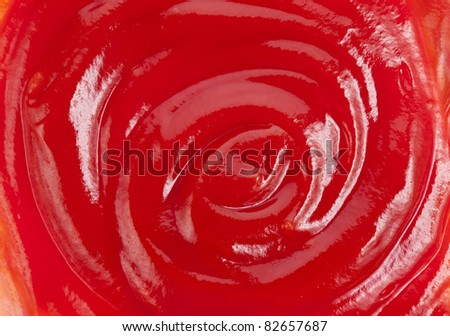 Tomato ketchup sauce texture surface background - stock photo