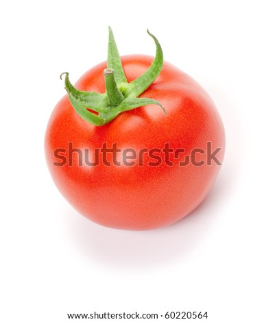 tomato  on the white isolated background.  studio photo - stock photo