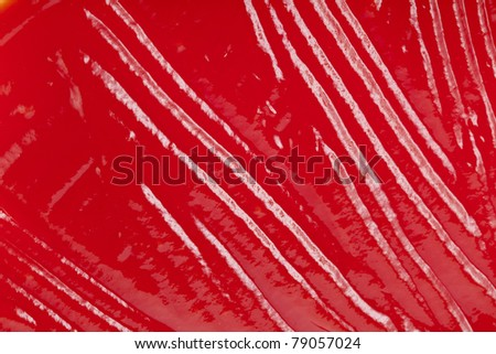 tomato sauce surface top view texture - stock photo