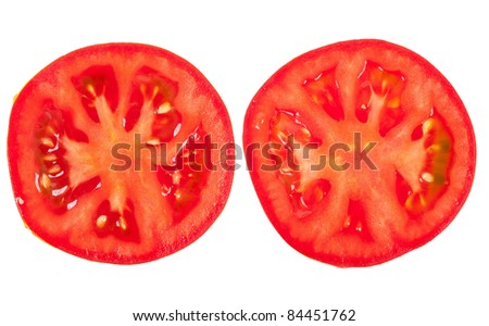 Tomato sliced - stock photo