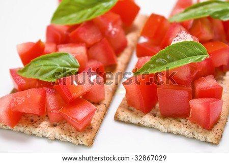 Tomato snacks - stock photo