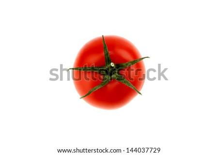 tomato top view - stock photo