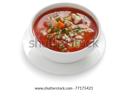 tomato vegetable soup - stock photo