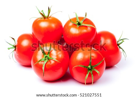 Tomato vegetables isolated on white background