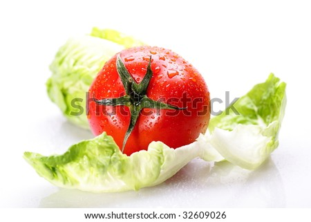 tomato with lettuce