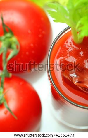 tomatoe juice, narrow focus - stock photo