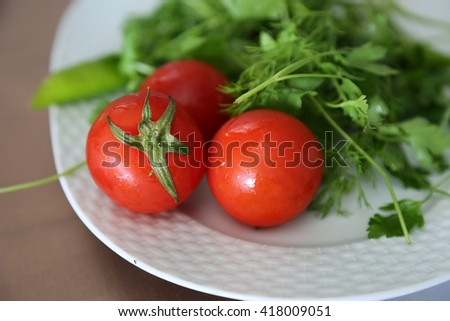 Tomatoes and greens
