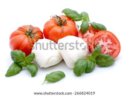 Tomatoes and mozzarella - stock photo