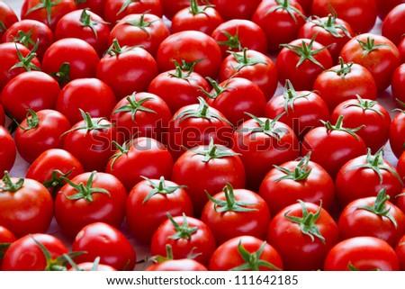 Tomatoes at market - stock photo