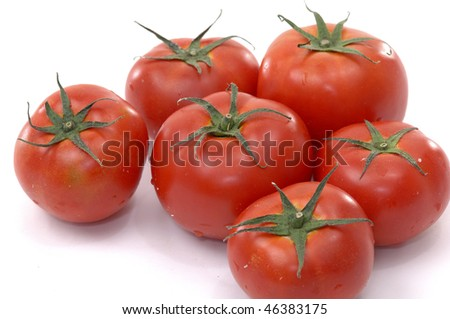 Tomatoes. Clipping path