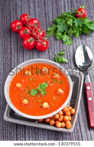 Tomatoes cream soup - stock photo