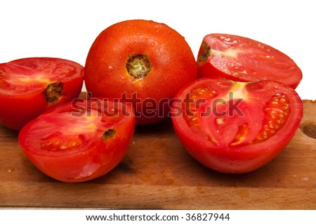 Tomatoes, full and half