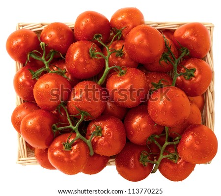 Tomatoes in the basket - stock photo