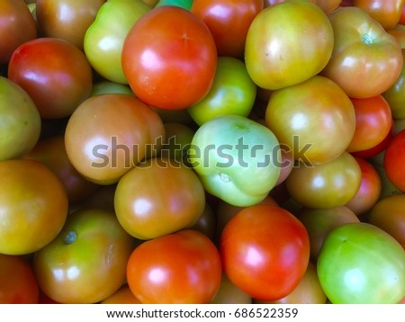 Tomatoes in the fresh market