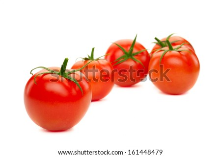 tomatoes, isolated on white - stock photo