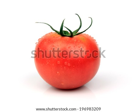 Tomatoes  isolated on white  background