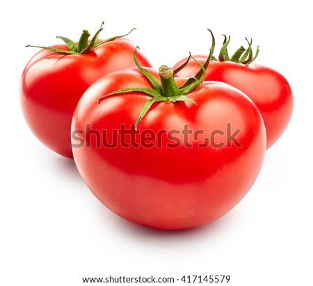 Tomatoes isolated on white background - stock photo