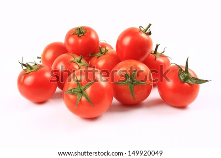Tomatoes on a white background  - stock photo
