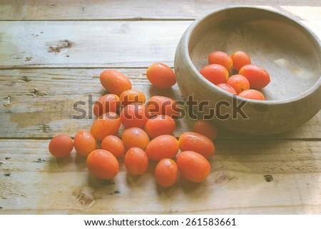 tomatoes organic - stock photo