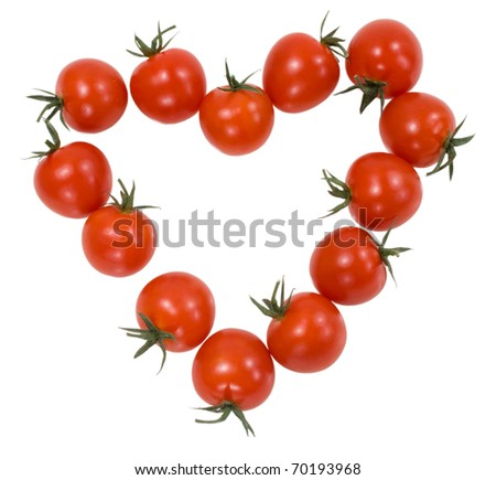 how to make heart shaped tomatoes