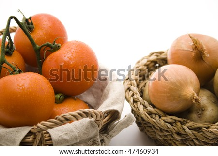 Tomatoes with water drops - stock photo