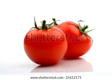 tomatos isolated - stock photo