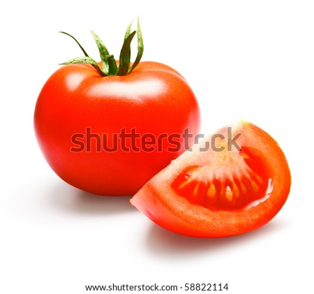 tomatos isolated on white - stock photo