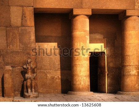 Tomb Doorway - stock photo