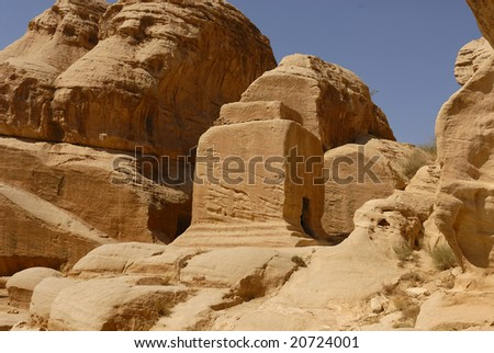 Tomb in Petra - stock photo