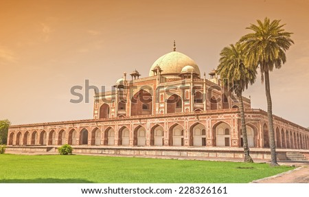 Tomb of Emperor Humayun at New Delhi, India - stock photo