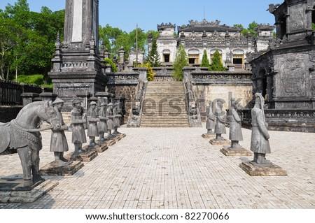 Tomb of Emperor Khai Dinh, Hue, Vietnam - stock photo