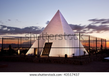 Tomb of Governor Hunt (Arizona's First Governor) in Tempe and Phoenix Arizona's Papago Park. - stock photo