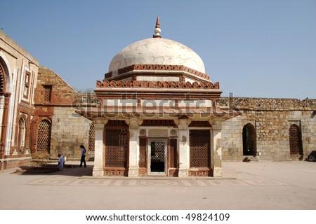 Tomb of Imam Zamim at the Qutub Complex, New Delhi - stock photo