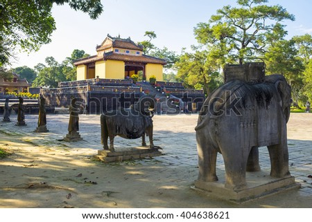 Tomb of Minh Mang, Huong Tra District, Thua Thien-Hue Province, Vietnam - stock photo