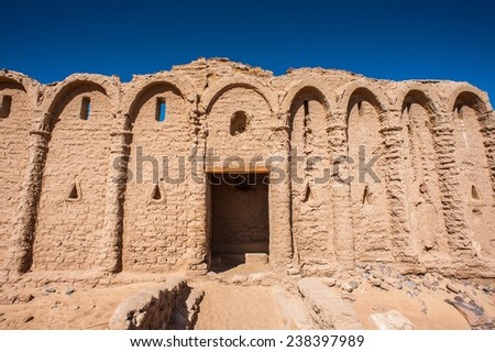 Tomb of the Al-Bagawat (El-Bagawat), an ancient Christian cemetery, one of the oldest in the world, Kharga Oasis, Egypt
