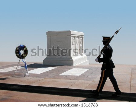 Tomb of the Unknown Soldier, Arlington National Cemetery. Virginia.