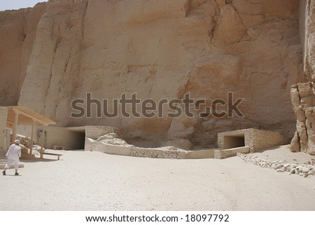 tomb of the valley of the kings, egypt - stock photo