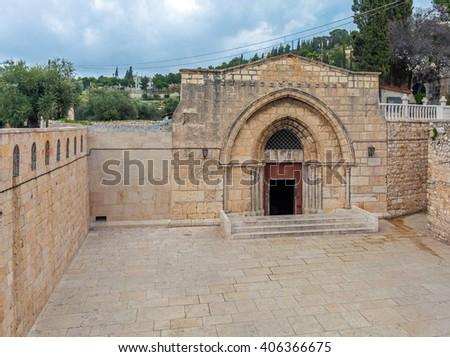 Tomb of the Virgin Mary, Kidron Valley, Jerusalem - stock photo