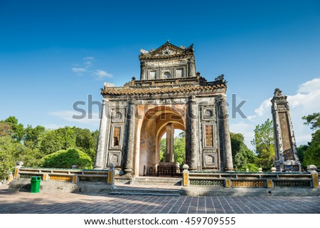 Tomb of Tu Duc emperor in Vietnam