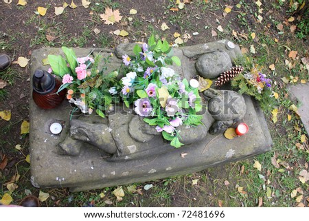 Tomb of two Kids - stock photo