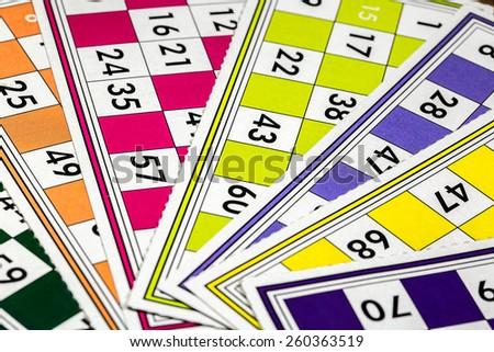 Tombola, Bingo - stock photo