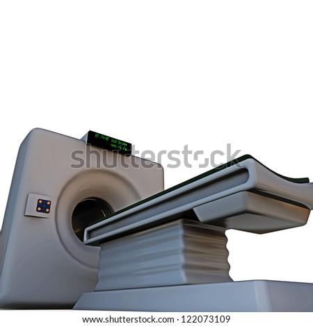 tomograph isolated on white background - stock photo
