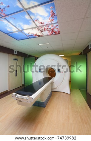 tomography cancer treatment machine in hospital