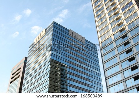Toned image of modern office buildings - stock photo
