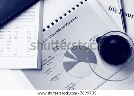 Toned report - stock photo