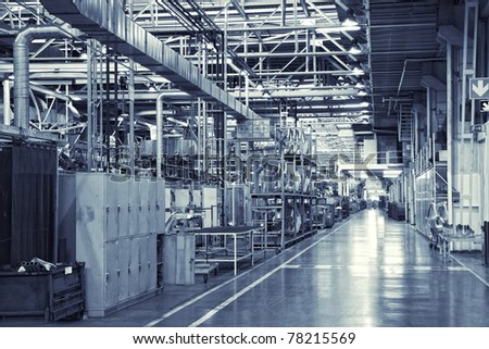 toned shot of industrial background - stock photo