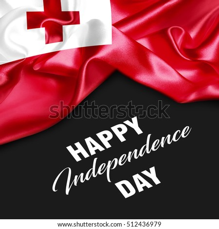 Tonga Happy Independence Day. 3d illustration