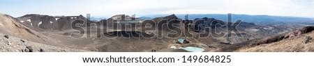 tongariro crossing - stock photo